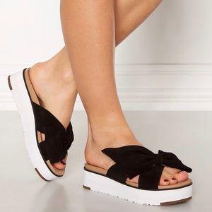 New UGG Women's Joan II Sandals, Black, 7.5